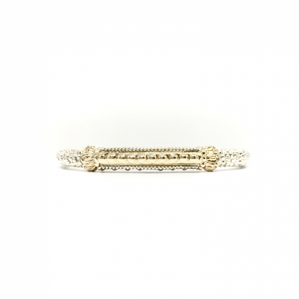 Gold bar bangle bracelet  by Vahan