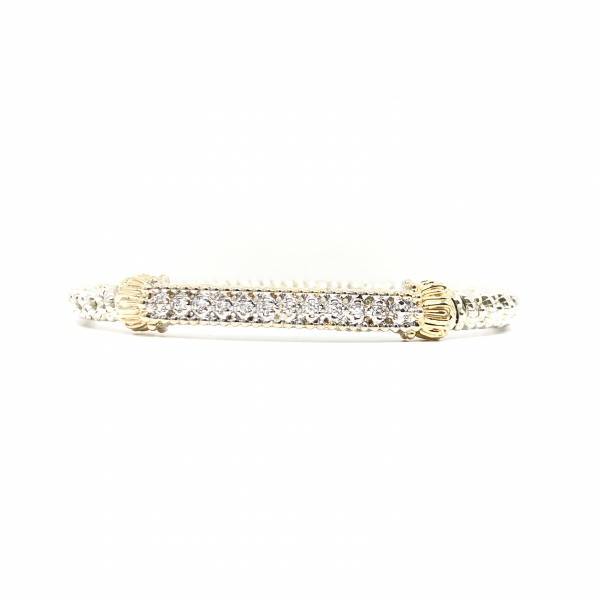 Diamond bar bangle bracelet  by Vahan