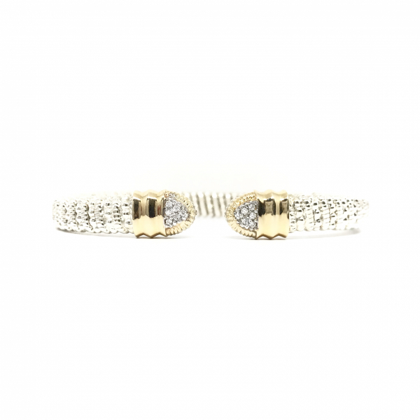 Pointed Open Diamond Bangle Bracelet  by Vahan