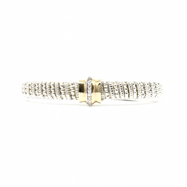 Front Closure Diamond Bangle Bracelet  by Vahan