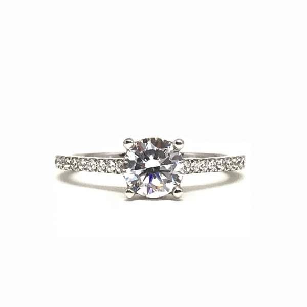 Round Diamond Engagement Ring  by Sylvie