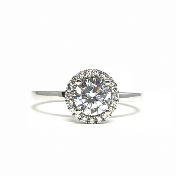 Round Halo Engagement Ring by Sylvie
