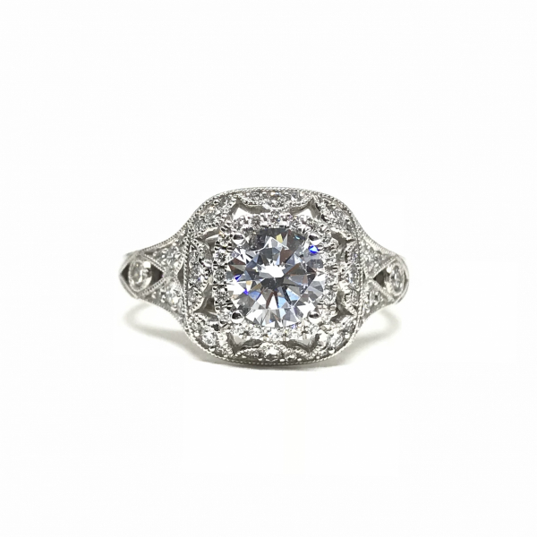 Cushion Double Halo Engagement Ring by Sylvie