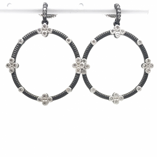 SIGNATURE 4 POINT OPEN HOOPS by FREIDA ROTHMAN