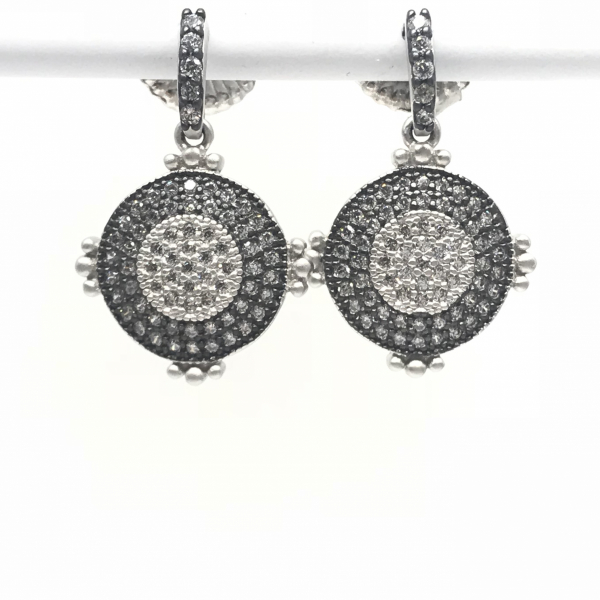 PERFECT PAVÉ DANGLE EARRING by FREIDA ROTHMAN