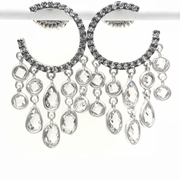 C-HOOP CHANDELIER EARRINGS by FREIDA ROTHMAN