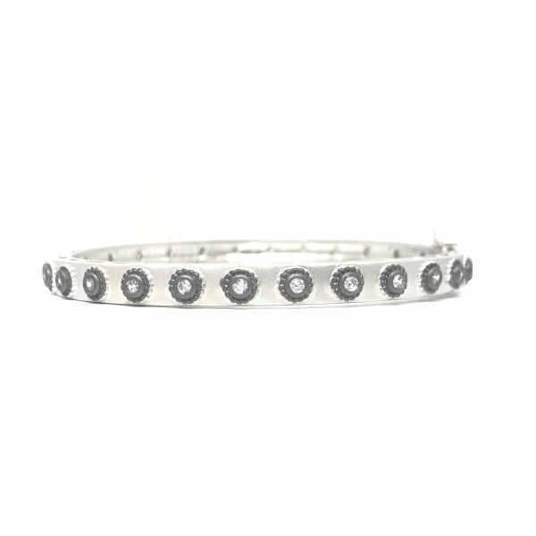 STUDDED ETERNITY HINGE BANGLE by FREIDA ROTHMAN