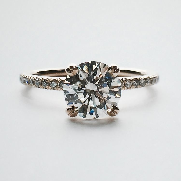 halo s diamond square engagement and gold ring house fine diamonds husar rose of rings white